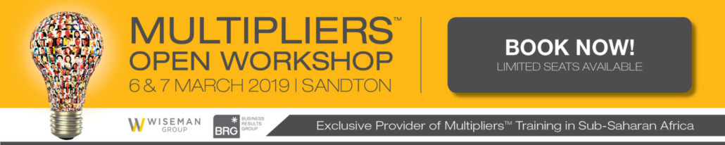 Book Now Multipliers Leadership Open Workshop
